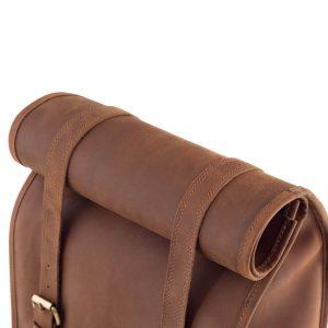 Skórzany Plecak Vintage na Laptopa Brązowy Outlander BTM7